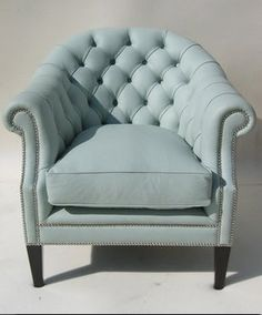 duck egg blue chair.. living room ideas
