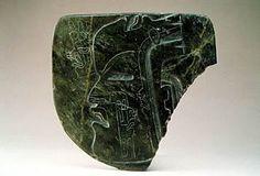 Тарелка с 5 барельефными, гравированными профилями. 800-400 гг. до н.э. 15,5х16,4 см.