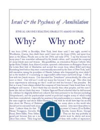 Israel & the Psychosis of Annihilation