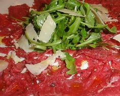 Beef Carpaccio with Arugula & Parmigiano-Reggiano