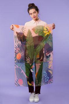 Rousseau Silk Georgette Scarf