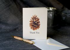 Pine Cone Holiday Cards  A blank notecard to send by jenAitchison, $17.50