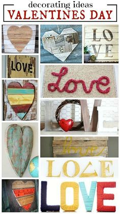 Valentines Day Decorations - Inspired Home Style Valentines Day Activities, Valentines Day Decorations, Valentine Day Crafts, Be My Valentine, Summer Christmas, Reclaimed Lumber, Heart Day, Love Holidays, Heart Crafts