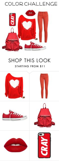 """""""red"""" by haleystone1214 on Polyvore featuring interior, interiors, interior design, home, home decor, interior decorating, Converse, Lime Crime, Casetify and colorchallenge"""
