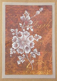 Texture Painted Floral Greeting Card