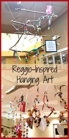 Creative ideas for Reggio-Inspired hanging art.