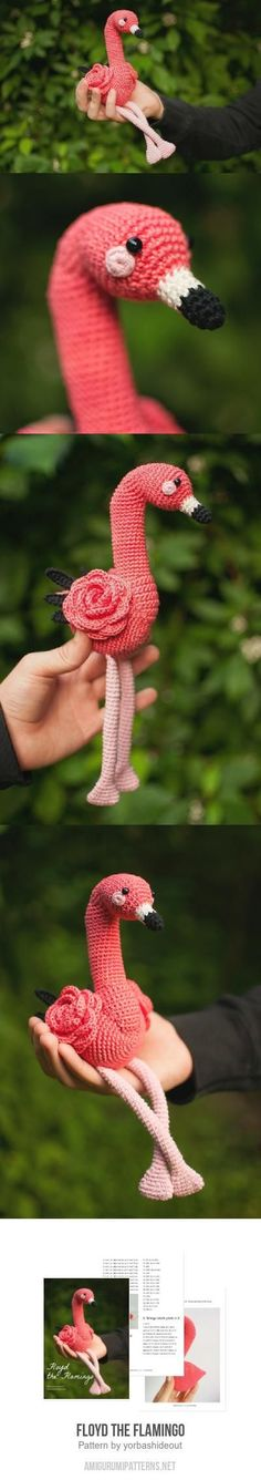 Floyd the Flamingo amigurumi pattern