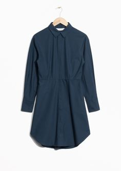 & Other Stories | Shirt Dress - invisible placket, waistdarts