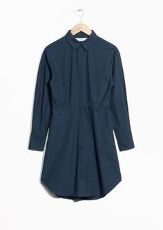 & Other Stories | Shirt Dress - invisible placket, waistdarts