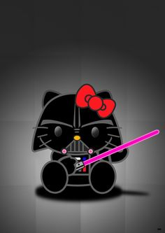 Brand new t shirt hello kitty star wars hello vader - Dark vador hello kitty ...