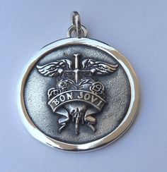 3D Bon Jovi Pendant Sterling Silver 925 by newneo2012 on Etsy