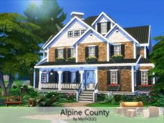 Alpine County house by MychQQQ for The Sims 4