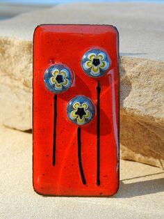 enamel with millefiore flowers