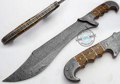 "17.25"" Hand Made Damascus Steel Full Tang Jungle Ranger Bowie Knife (AA-0222-2) #KnifeArtist"