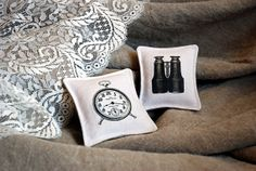 Two French lavender pouches, vintage mini-cushions by AuFildAntan on Etsy