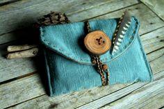 Blue pouchEthnic tobacco caseMulti pouchbig by JaraKacaHandmade