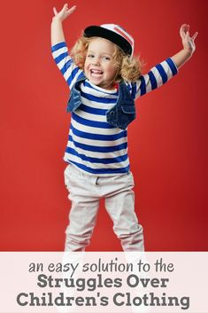 Getting your kids dressed in the morning doesn't have to be a battle! This simple solution can ease the struggle over children's clothing. A helpful little positive parenting tip!