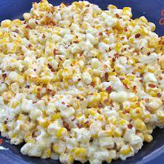 el maz de queso crema quesos crema receta de maz escamas pimientos rojos negro mantequilla