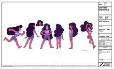 Multiple reference page from Dou Hong Bovine Design's Steven Universe Magical Girl Reference Page C2NDY2C1D's  Fashionista Steven Reference page (1) (2) Steven Amethyst Pearl Garnet Rose...