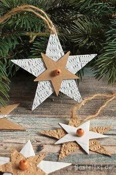 Weihnachtsbaumanhänger - Pappsterne - #Pappsterne #Weihnachtsbaumanhänger