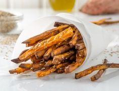 Süßkartoffelpommes aus der Heißluftfritteuse