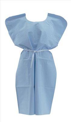 Medline - NON24244 - Disposable Patient Gowns,Blue,Regular/Large