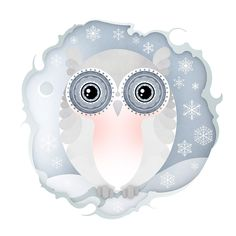 Christmas snowy owl illustration by Jenny Lloyd