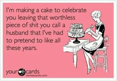 HAHAHAH! reminds me of the surprise party we threw my now husband when he finally got divorced from his ex ole lady