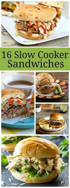 16 Slow Cooker Sandwiches