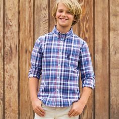 Junior will be the best dressed around in our Buckley Jr. Button Down.
