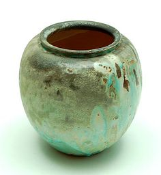 Earthenware vase with dripping-glaze, executed by Mobach, Utrecht, The Netherlands, ca.1935