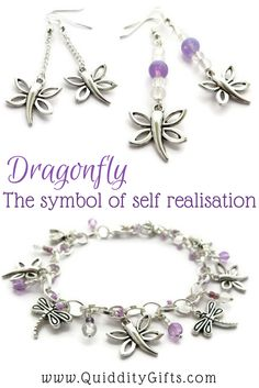 Dragonfly charm bracelets | handmade jewellery | Gift ideas for her | Dragonflies are symbols of peace and happiness |