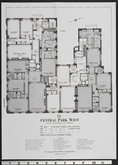Floor plans for the 1930 San Remo Apartments at 145 Central Park