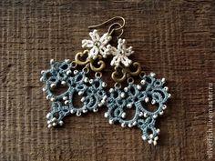"Handmade earrings.  Fair Masters - handmade lace earrings ""Adelaide.""  Handmade."
