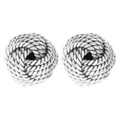 Pre-Owned Silver Tiffany & Co. Twist Knot Earrings