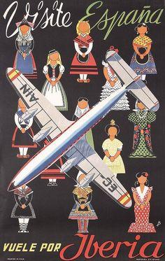 Iberia Spain Travel Poster.
