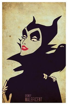 Maleficent Poster 11x 17 wall decor Sleeping by PropagandaPrints