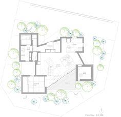 Дом в Миноо,план второго этажа