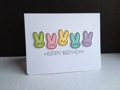 I'm in Haven: Reverse Confetti April Blog Hop...BUNNIES!! Carton Cuties and Bebe Bunny stamp sets. Carton Cuties Confetti Cut. Birthday card. Easter card. Spring card.