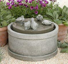 The  Passaros Fountain is adorable!