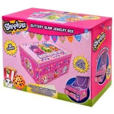 Shopkins Jewelry Box Bracelet Necklace Box RARE Collection MOSAIC Easter Gift  #Shopkins