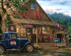 Country store with Pepsi style