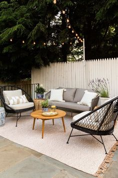 """Our popular Aeri lounger is here for a second round of summer, but this time it's got a dark side. Black wicker pops against your sunshine-y porch, while a lily white cushion keeps this Aeri feeling more """"Cruella de Fashion"""" than """"Morticia Adams."""" Photo by @erinkestenbaum. #OutdoorInspo #PatioFurniture #PatioInspo"""