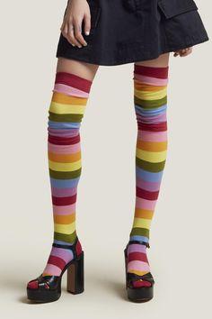 High-Leg Cotton Socks