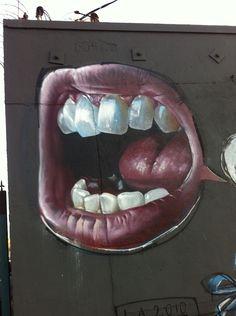 Herakut Murals Street Art, 3d Street Art, Street Art Graffiti, Amazing Street Art, Amazing Art, Banksy, Street Tattoo, Found Object Art, Recycled Art