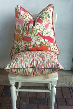 Duralee Jumgle Boogie Pink Orange Pillow.Decorative Pillow Cover.Animal Print.Accent Pillow.Baby Pillow.Girl Pillow.Home Décor.Accent Pillow...