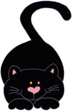HALLOWEEN CUTE BLACK CAT CLIP ART