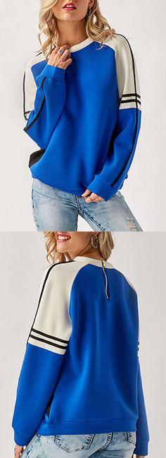 Long Sleeve Round Neck Pullover Sweatshirt.