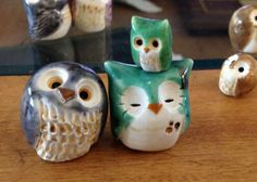 Green Clay Owl by calicoowls