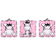Baby Boom 3-Piece Wall Art, I Luv Zebra